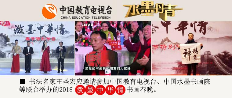 """书法名家王圣宏应邀参加CETV""""2018泼墨中华情""""书画春晚"""